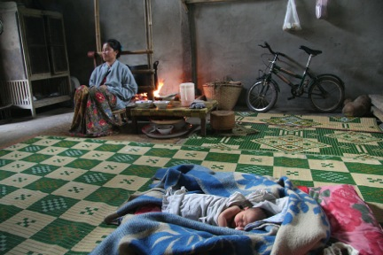 baby naps in laos