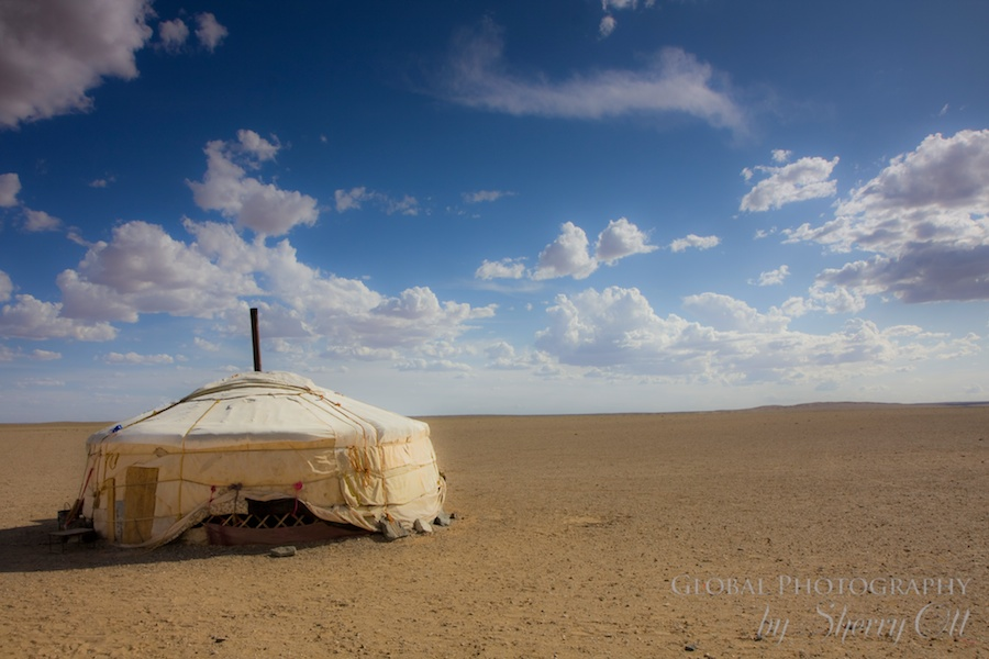 A simple ger home in Mongolia