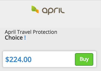 Buy feature on InsureMyTrip