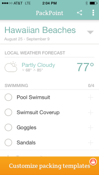 PackPoint Weather Packing App
