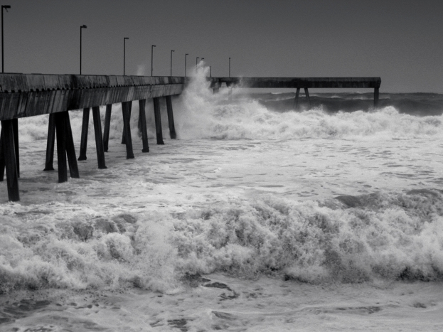 Wave Ravaged Pier