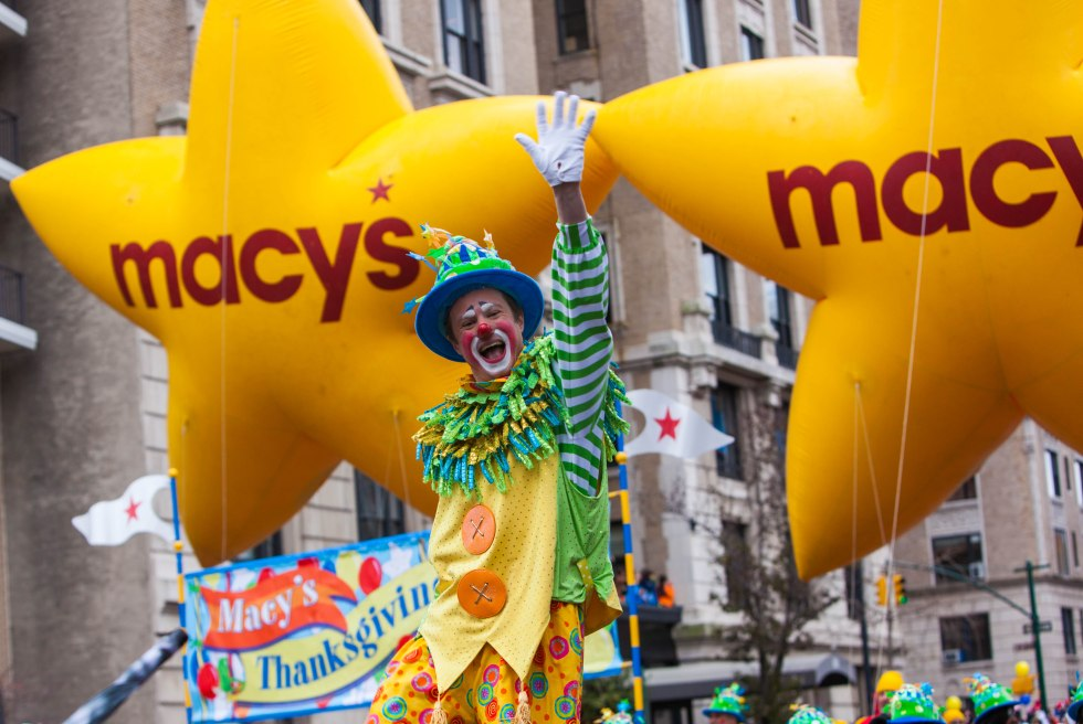 Clown at Macy's Thanksgiving Day Parade