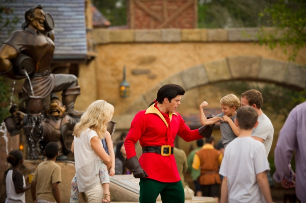 Guests Flaunt for Gaston at New Fantasyland